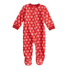Baby/Infant Jammies For Your Families Snowflakes Microfleece Blanket Sleeper One-Piece Pajamas