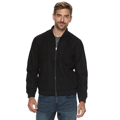 Men's Marc Anthony Slim-Fit Suede Bomber Jacket