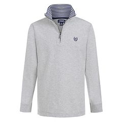 Boys 4-20 Chaps Jerry Quarter-Zip Knit Top