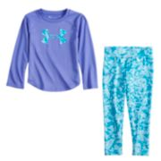 Baby Girl Under Armour Logo Graphic Tee & Shatter Leggings Set