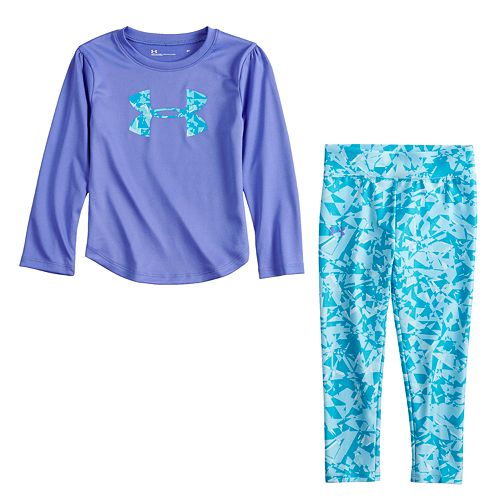 Baby Girl Under Armour Logo Graphic Tee & Shatter Leggings Set