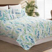 C&F Home Aquarius Seahorse Quilt Set