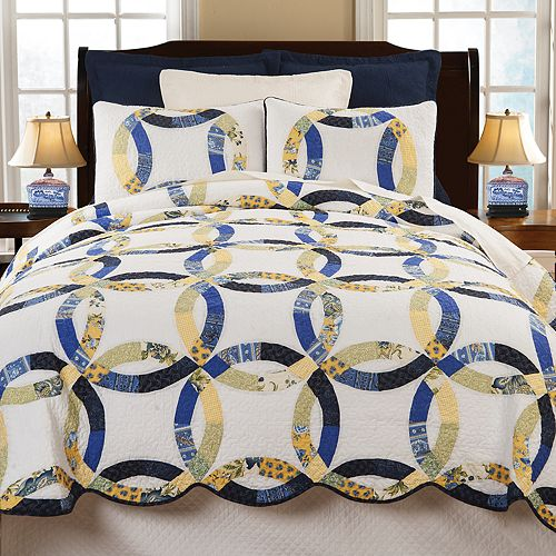 C Amp F Home Provence Wedding Ring Floral Quilt Set