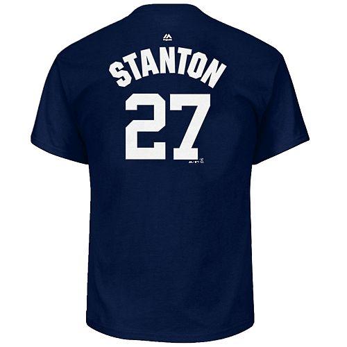 Men's Majestic New York Yankees Giancarlo Stanton Name & Number Tee