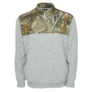 Men's Realtree Impact Quarter-Zip Fleece Top