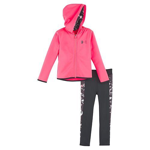 Baby Girl Under Armour Fleece Hoodie & Space-Dye Performance Leggings Set