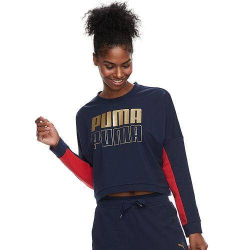 Women's PUMA Modern Sport Crewneck Graphic Sweatshirt
