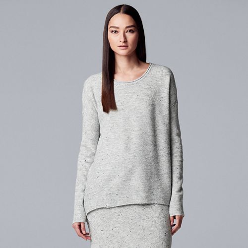 Women's Simply Vera Vera Wang Asymmetrical-Hem Sweater