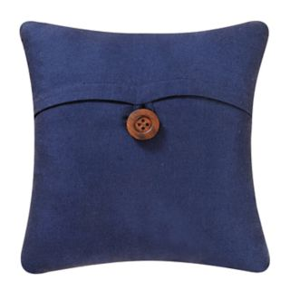 Carol & Frank Navy Blue Envelope Throw Pillow