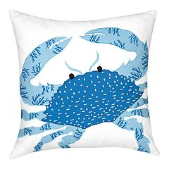 Carol & Frank Crab Throw Pillow
