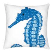 Carol & Frank Seahorse Throw Pillow