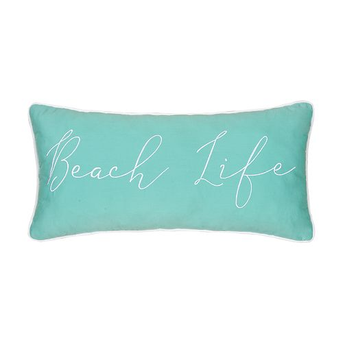 "Carol & Frank ""Beach Life"" Oblong Throw Pillow"