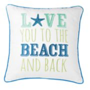 "Carol & Frank ""Beach"" Throw Pillow"