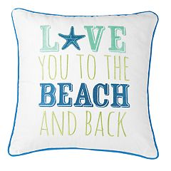 Carol & Frank 'Beach' Throw Pillow