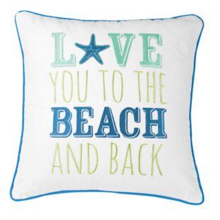 "Carol & Frank ""Beach"" Throw Pillow"