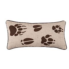 Carol & Frank Caleb Paw Print Oblong Throw Pillow