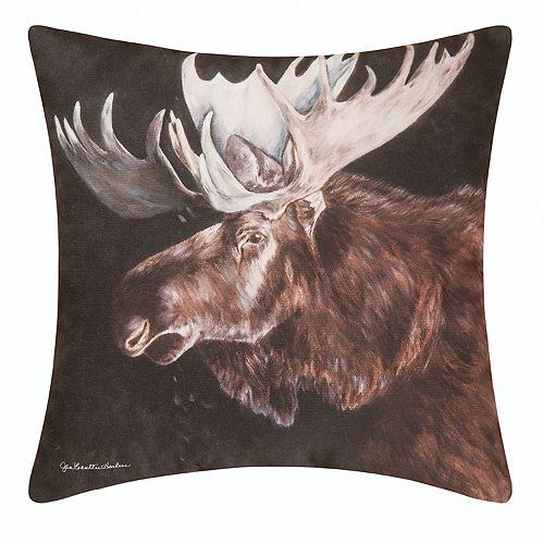 Carol & Frank Indoor Outdoor Moose Throw Pillow