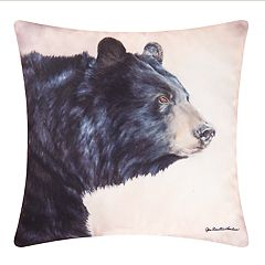 Carol & Frank Indoor Outdoor Bear Throw Pillow