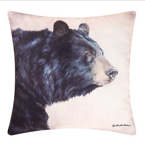 Carol & Frank Indoor Outdoor Bear Throw Pillow