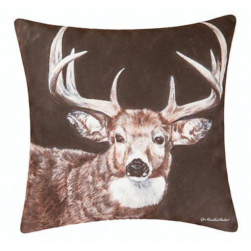 Carol & Frank Indoor Outdoor Deer Throw Pillow
