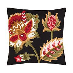 Carol & Frank Floral Garden Hooked Throw Pillow