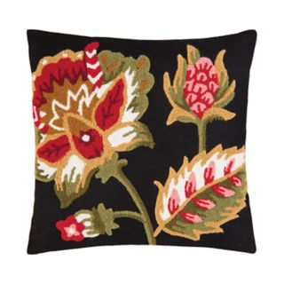 Carol & Frank Floral Garden Hooked Throw Pillow