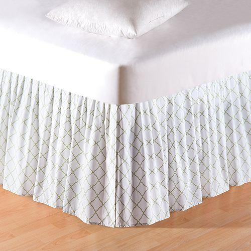 Carol & Frank Green & White Lattice Bedskirt