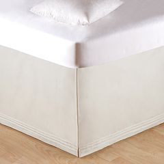 Carol & Frank Soft White Tailored Bedskirt