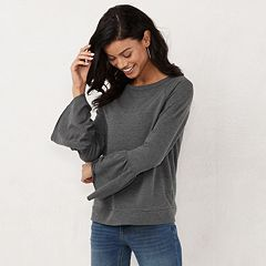 Women's LC Lauren Conrad Weekend Bell-Sleeve Sweatshirt