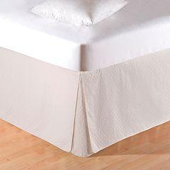 Carol & Frank Cream Quilted Bedskirt