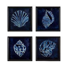 Madison Park Signature Seashell Wall Art 4-piece Set