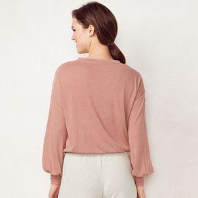 Women's LC Lauren Conrad Weekend Drawstring Crop Sweatshirt