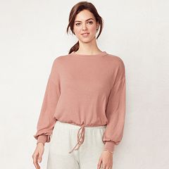 Women's LC Lauren Conrad Weekend Drawstring Crop Sweatshirt