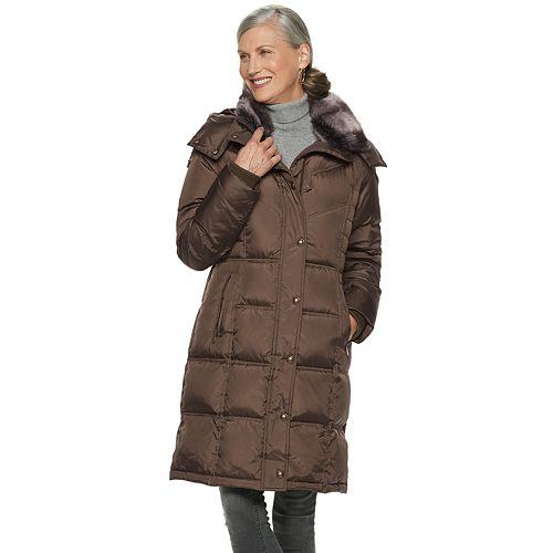 ce47d26e4c8bd Women s TOWER by London Fog Faux-Fur Collar Down Puffer Coat