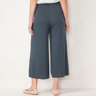 Women's LC Lauren Conrad Weekend Cropped Wide-Leg French Terry Pants