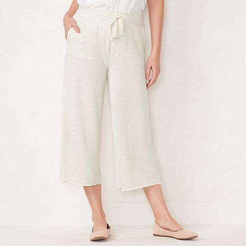 bbd46f22ff50 Women s LC Lauren Conrad Weekend Cropped Wide-Leg French Terry Pants