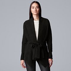 Women's Simply Vera Vera Wang Cozy Tie-Front Cardigan Sweater