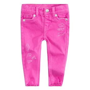 Baby Girl Levi's® 710 Super Skinny Frayed-Hem Color Jeans