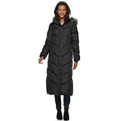 Women's TOWER by London Fog Faux-Fur Long Down Puffer Coat