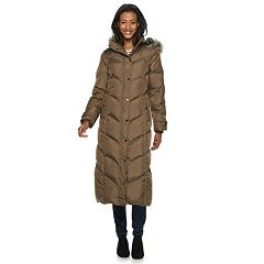 Women's TOWER by London Fog Faux-Fur Long Down Puffer Coat