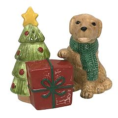 St. Nicholas Square® Holiday Dog Salt & Pepper Shaker Set
