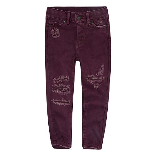 Baby Girl Levi's® 710 Super Skinny Frayed Color Jeans