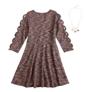 Girls 7-16 My Michelle Strappy Necklace Dress
