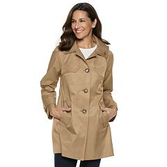 Women's TOWER by London Fog Hooded Double Collar Coat