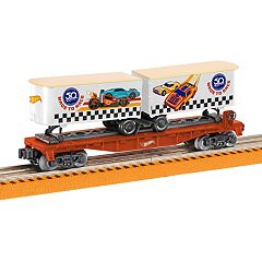 Hot Wheels 50th Anniversary Flat Car with Piggybacks by Lionel