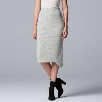 Women's Simply Vera Vera Wang Asymmetrical Sweater Skirt