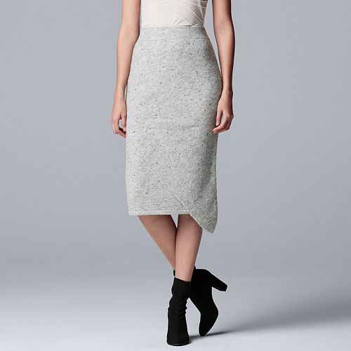 Women's Simply Vera Vera Wang Asymmetrical Sweater Skirt