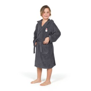 Linum Home Textiles Kid's Turkish Cotton Hooded Unisex Terry Bathrobe