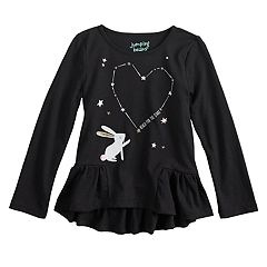 b77ad5c143a Toddler Girl Jumping Beans® Reach for the Stars Tee