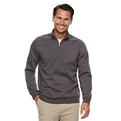 Men's Croft & Barrow® Classic-Fit Easy-Care Stretch Fleece Quarter-Zip Pullover